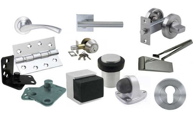 door hardware, door hinges, door handles, door locks, door knobs